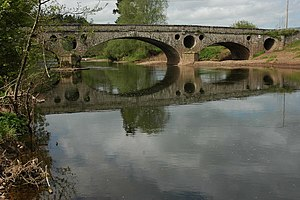 Flood arch - Pant-y-Goitre Bridge with both pierced spandrels and a flood arch