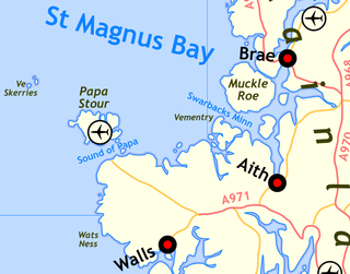 Ve Skerries Small islands in the west of Shetland