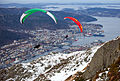 Paragliders jumping from Ulriken Bergen.jpg