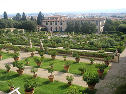 Jardín del Parco Di Castello en Florencia, Italia