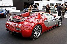 Bugatti Veyron 16.4 Grand Sport del 2010, vista posteriore