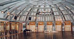 Le studio Petipa sous les structures de la grande coupole