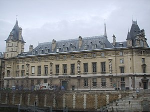 Palais de Justice, Paris - The south range.