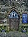 Parish Church of St Nicholas with St John and St Michael, Newchurch, Doorway - geograph.org.uk - 684977.jpg