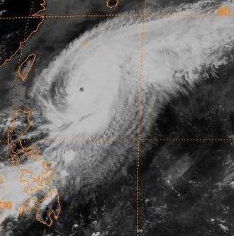 1982 Pacific typhoon season - Image: Pat 1982052106GMS2IR
