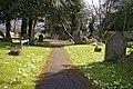 Path through churchyard, St Mary the Virgin, East Barnet - geograph.org.uk - 766594.jpg