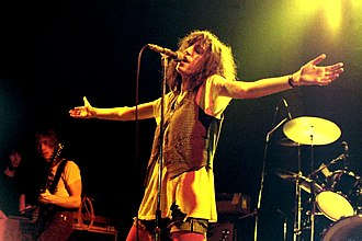 Patti Smith - Smith performing with the Patti Smith Group, in Germany, 1978