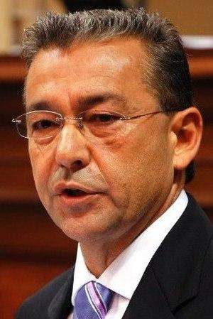 Español: Paulino Rivero, presidente del Gobier...