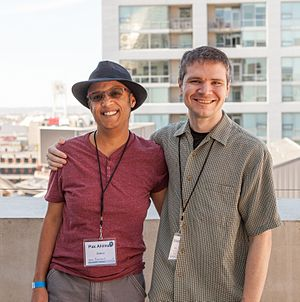 Pax and Jethro at WikiConference North America 2016.jpg