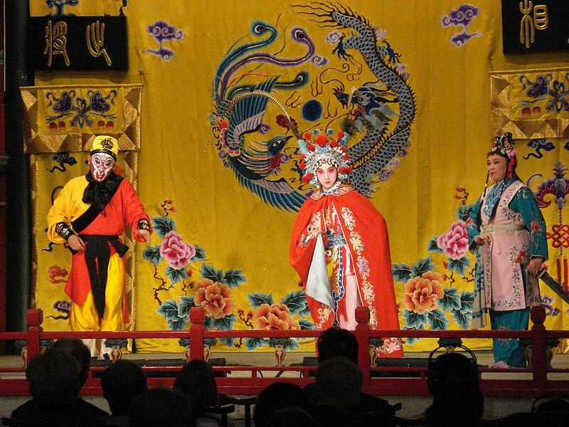 Pekin przedstawienie tradycjnego teatru chinskiego 7.JPG