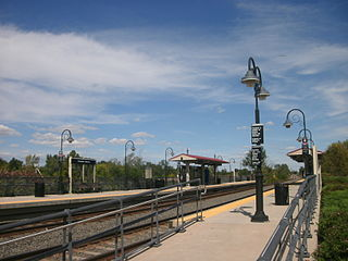 Pennsauken–Route 73 station train station in Pennsauken, New Jersey