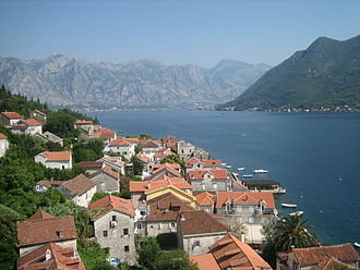 Bay of Kotor - Perast and Bay of Kotor from Saint Nicholas' Church