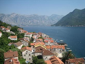 Bajo Pivljanin - View of the Bay of Kotor from Perast