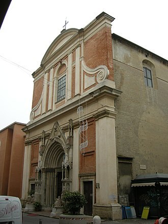 Sant'Agostino, Pesaro - The facade of the church
