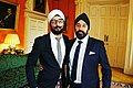 Peter Bance - largest private collector of Maharaja Duleep Singh artefacts with Param Singh the Deputy Chairman of City Sikhs at Number 10 Downing Street.jpg