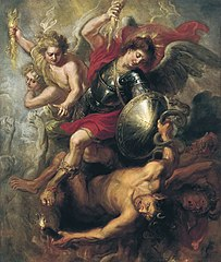 Saint Michael expelling Lucifer and the Rebellious Angels