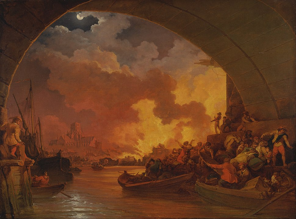 Philippe-Jacques de Loutherbourg - The Great Fire of London - Google Art Project