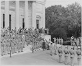 Photograph of Field Marshal Montgomery's visit to the Tomb of the Unknown Soldier in Arlington National Cemetery. - NARA - 199433.tif