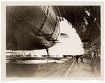 Photograph of the USS Akron in the Goodyear-Zeppelin Dock , ca. 1933 (7951495588).jpg