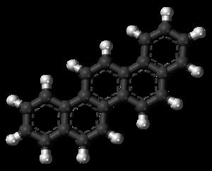 Picene - Image: Picene molecule ball