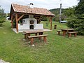 Picnic place, Historical Memorial Park in Gyenesdiás, 2016 Hungary.jpg