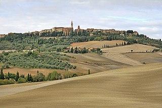 Pienza Comune in Tuscany, Italy