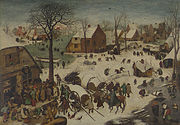 Pieter Bruegel the Elder - The Numbering at Bethlehem - Google Art Project.jpg