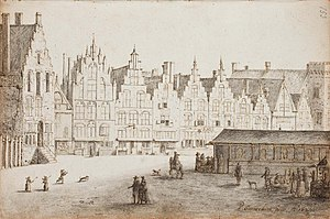 Pieter Jansz. Saenredam - The Grote Markt including the Hoofwacht on the left in Haarlem - 1629