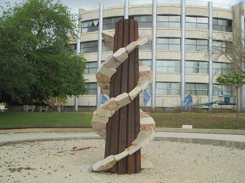 פסל מגדל ה-DNA בתל השומר