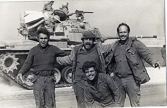 Reserve duty (Israel) - Israeli reservists returning to the Sinai peninsula from the front line following the Yom Kippur War, April 1974