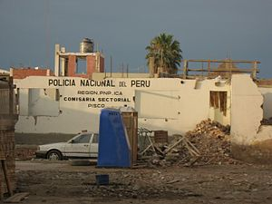Pisco, Peru - Pisco after the earthquake