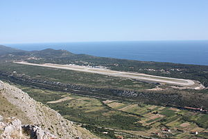 Dubrovnik Airport - Image: Pista Čilipi