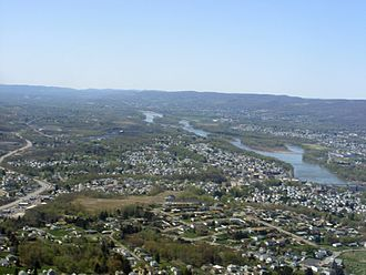Greater Pittston - Aerial view of Greater Pittston. Pittston City can be seen on the right (along the Susquehanna River).
