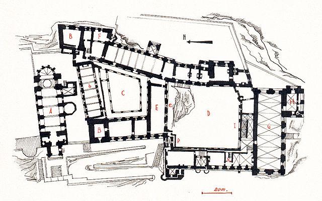File Plan Du Palais Des Papes D Avignon Par Joseph Rosier