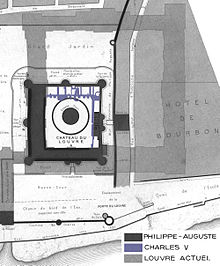 Elegant Map Showing Both The Louvre Castle And The Cour Carrée.