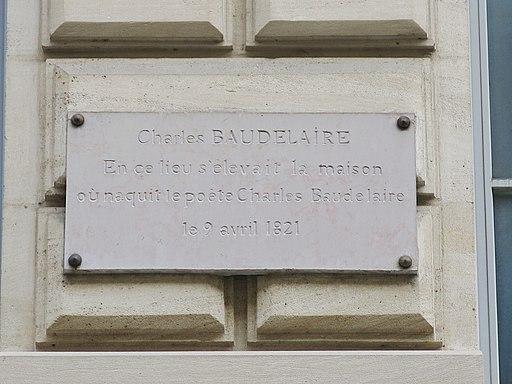 Plaque Charles Baudelaire, 17 rue Hautefeuille