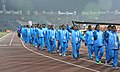 Players of India take participants march past, during the closing ceremony of the 12th South Asian Games-2016, in Guwahati on February 16, 2016.jpg