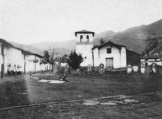Hans Kinzl -  The plaza of Chacas. Photo taken by Hans Kinzl during his stay in Ancash, Peru in 1932.
