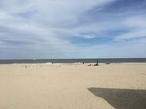 Point Pleasant Beach, New Jersey - A view of the beach in Point Pleasant Beach