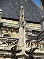 Poissy (78), collégiale Notre-Dame, bas-côté sud, pinacle et gargouilles.jpg
