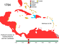 Political Evolution of Central America and the Caribbean 1794.png