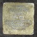 Pollatschick Endre stolperstein (Budapest-05 Gerlóczy u 1).jpg