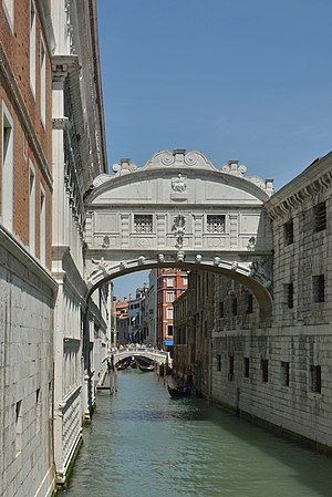 Piombi - The Bridge of Sighs and the Piombi prison on the right