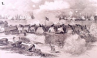 Battle of Port Royal - View of the battle from the Confederate heights by Rossiter Johnson