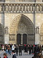 Portail du Jugement Dernier of Notre-Dame de Paris, 19 February 2007.jpg