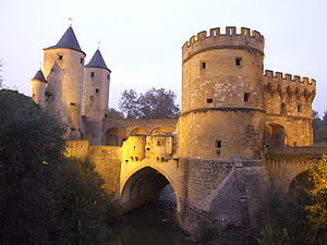 Bridge castle - The Germans' Gate in Metz, France.