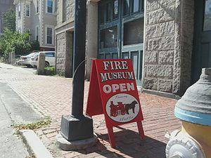 Portland Fire Museum - Image: Portland Fire Museum sign