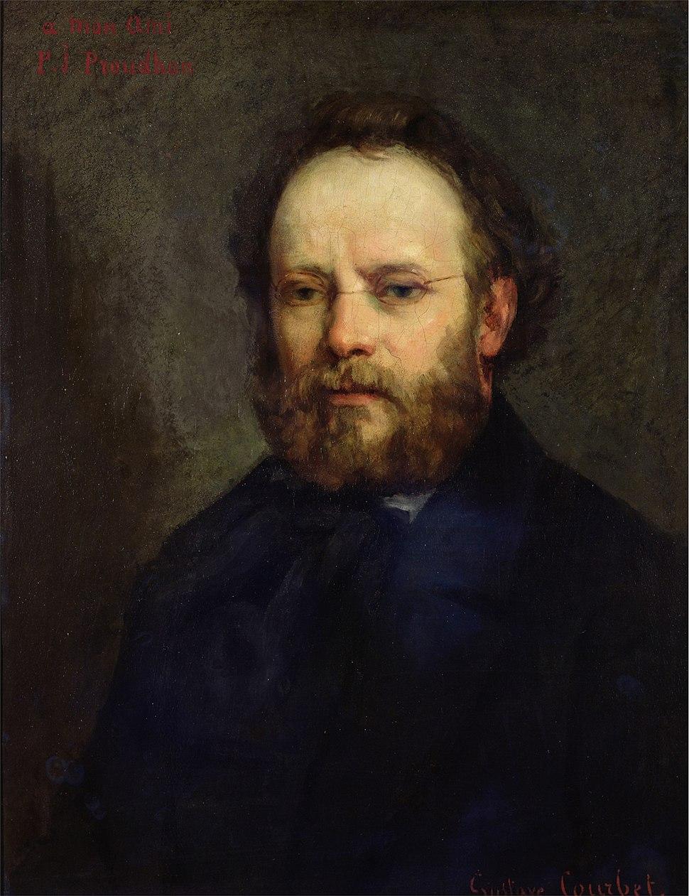 Portrait of Pierre Joseph Proudhon 1865