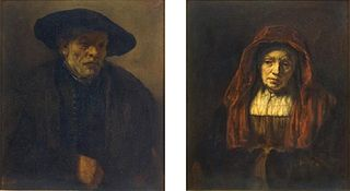 Pendant portraits of an old man and an old woman