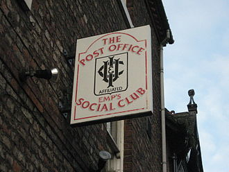 Working Men's Club and Institute Union - Post Office Employees' Social Club, York; CIU-affiliated.